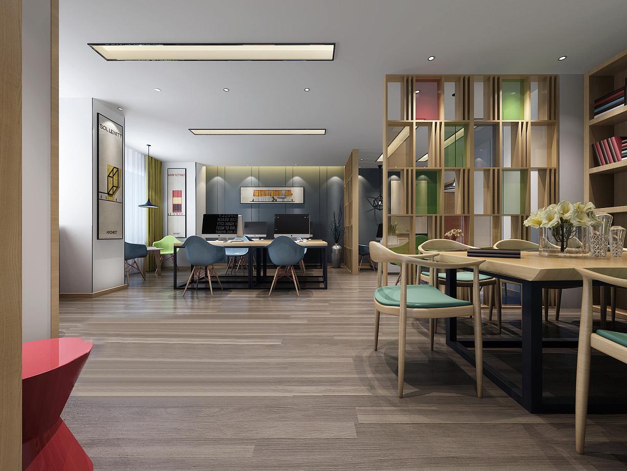 时尚新中式办公室装修设计
